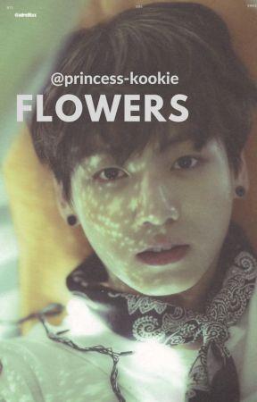 《 flowers 》- k.th x j.jk by princess-kookie