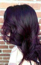 purple hair by pinkblackmelanie