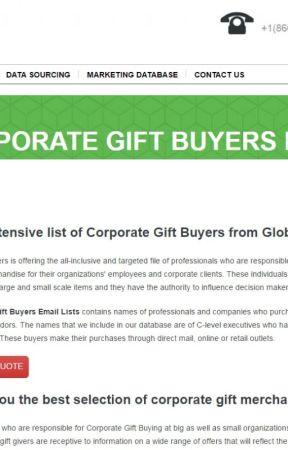 Corporate Gift Buyers Email List - Wattpad