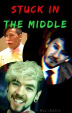 Stuck In The Middle - Darkiplier x Antisepticeye x Reader by bubble-tea-junkie