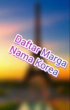 Daftar Marga Orang Korea by AuliaRahmawatiFajria