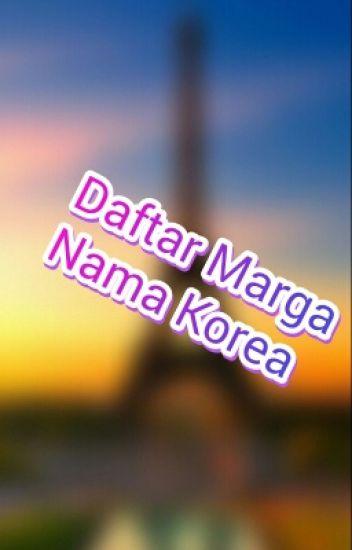 Daftar Marga Orang Korea