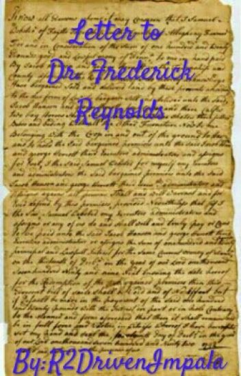 Letter To Doctor Frederick Reynolds