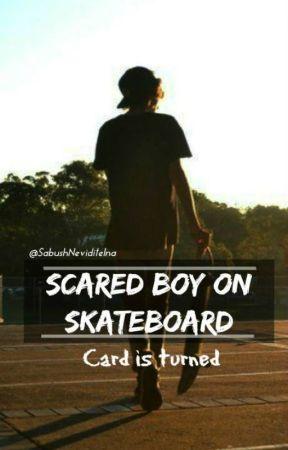 Scared boy on skateboard by SabushNeviditelna