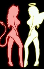 female angel x male reader x female demon by bigblue564