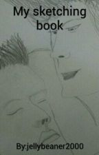 My sketching book by jellybeaner2000