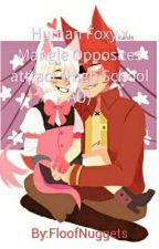 Human Foxy x Mangle Opposites attract (High School AU) by FloofNuggets
