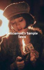 LETICIAMODI's SAMPLE TEXTS by leticiamodi