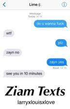 Ziam Texts by larryxlouisxlove