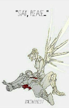 """Stay, Please..."" Genji x Mercy by Icewolves77"
