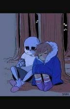 (PAUSADO)te amo até o fim [SANS X FRISK] undertale by davyss