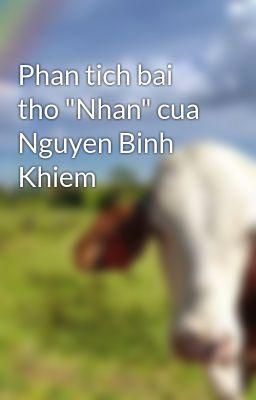 """Phan tich bai tho """"Nhan"""" cua Nguyen Binh Khiem"""
