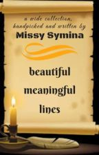 Beautiful, meaningful lines by missy_symina