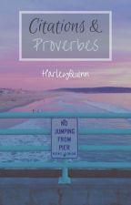 Citation & Proverbe by HairleyQuinn