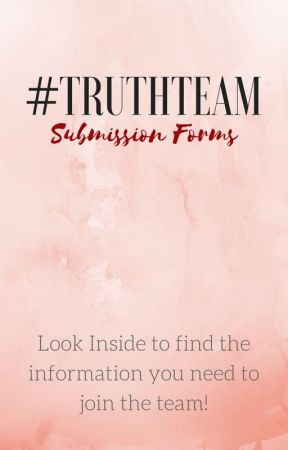 Team Submission Form by TruthMagazine