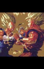 Fantasy DBZ battle between Goku and Vegeta  by Josh30112002