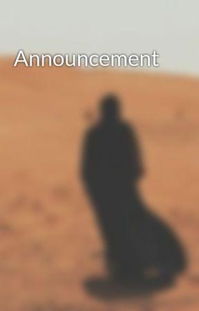 Announcement by BadiaaMais_63