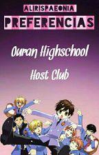 Preferencias de Ouran Highschool Host Club by AlirisPaeonia
