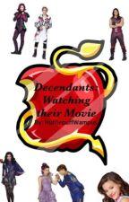 Descendants: Watching Their movie by HufflepufThunderbird