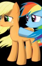 Don't Leave Me! - (Rainbow Dash X Applejack) (Requested) by DerpySparks4