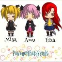 Erza, Amu, and Misa