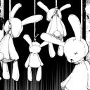 hanged rabbit